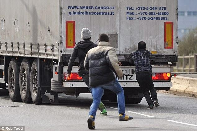 Harcban a kamionosokkal - Anglia felé