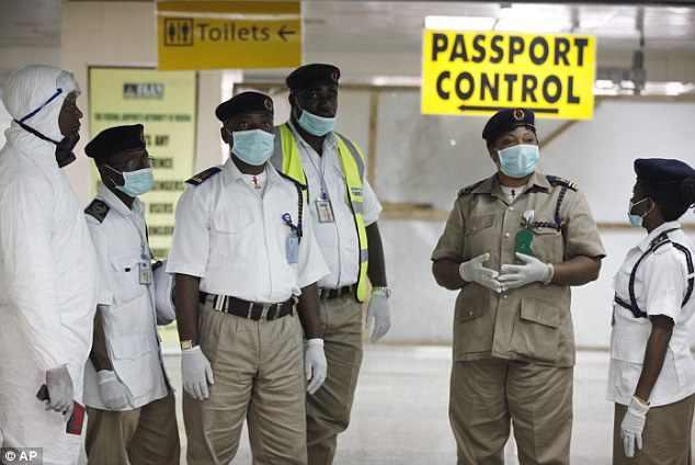 Ebola kontroll Murtala Muhammed repülőtér - Lagos, Nigéria 2