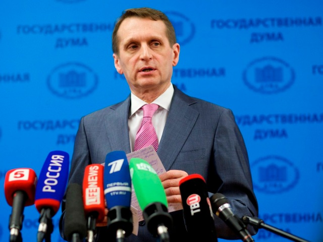 Rusko Ukrajina Krym Naryškin